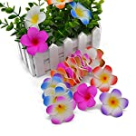 pleasantlyday-20Pcs-Plumeria-Hawaiian-Foam-Frangipani-Flower-Artificial-Silk-Fake-Egg-FlowerH106Cm
