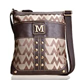 Marina By Melrose Patch Tote Bag (M Initial Brown)