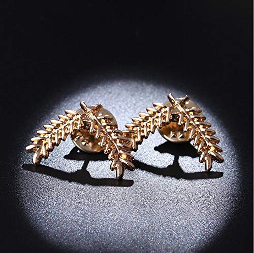 Taco Mocho Fashion Suit Shirt Collar Wheat Ear Brooch Three-Dimensional Collar pin Brooch Couples Jewelry Men and Women Jewelry