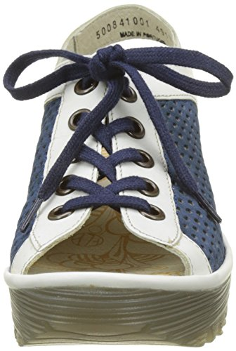 Femmes Yeki841fly Bleu London Blanc Bleu Sandales Fly wTE5Eq