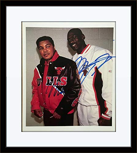Framed Muhammad Ali Michael Jordan Autograph with Certificate of Authenticity ()