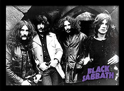 Black Sabbath Foto, Stampa con Cornice,, 30 x 40 cm Black Sabbath Foto Pyramid International FP10804P-PL
