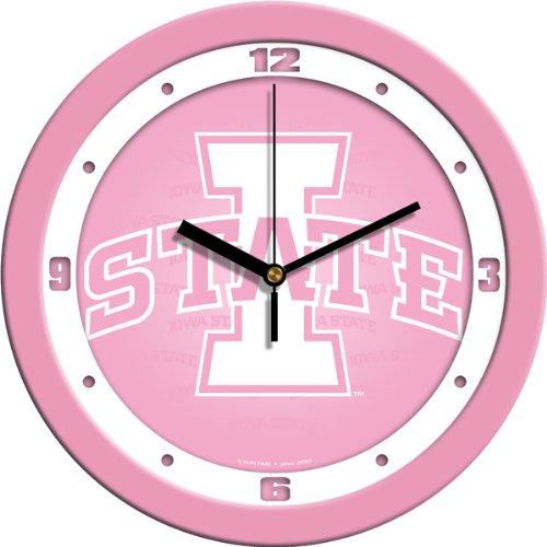 SunTime NCAA Iowa State Cyclones Wall Clock - - Clock Wall State Iowa Cyclones