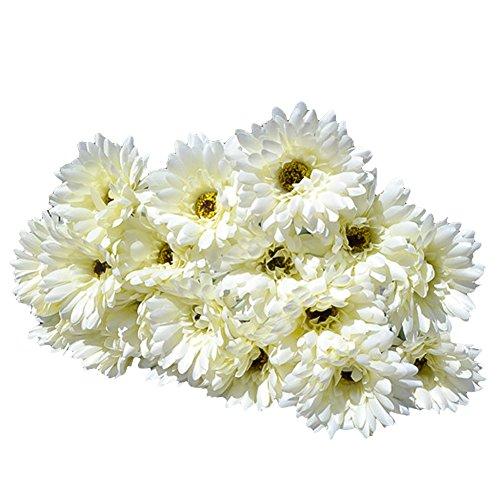 10x Silk Gerbera Daisy Artificial Flowers Bouquet Home Wedding Decoration ()