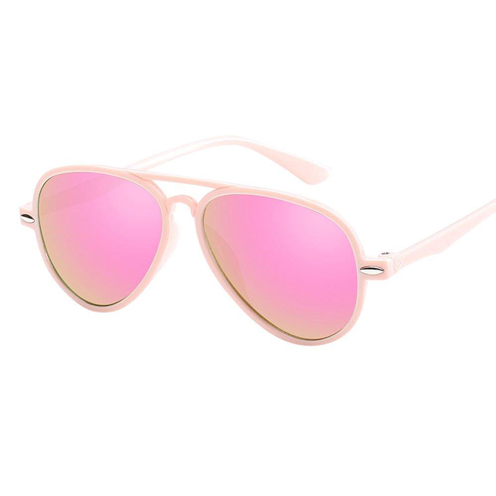 Retro Baby Sunglasses,Yamally Infant Classic Anti-UV Color Film Goggles Eyewear (Pink)
