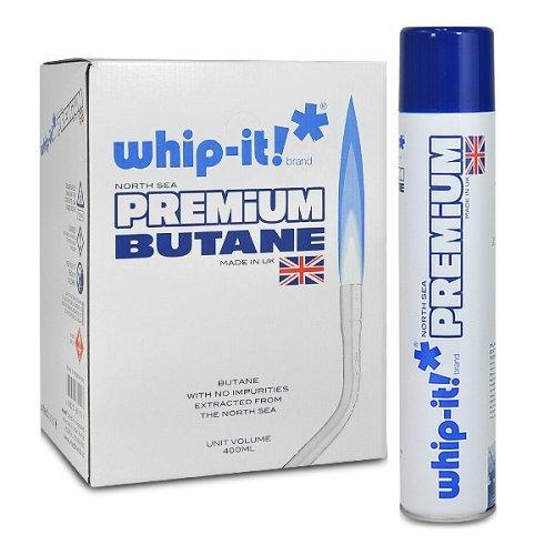 Whip-it! 12 cans (1 case) 400ml Premium Refined Butane Fuel Zero Impurities (Best Butane For Bho)