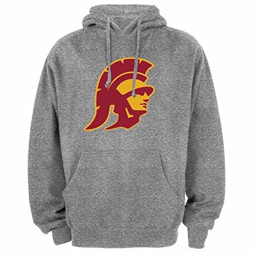 Silver Star Casting (Silver Star Casting Company USC Trojans Adult NCAA Trojan Head Hooded Sweatshirt - Gray, Medium)