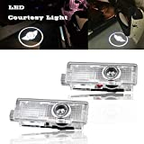 2 Pcs Car LED Courtesy Logo Light For Mini Cooper Welcome Lamp Auto Step Light Shadow Light For Clubman Clubvan R55 F54 09-17 Countryman R60 10-17 Paceman R61 12-16 Roadster R59 12-16 (MINI COOPER)