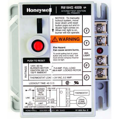 Honeywell R8184G PROTECTORELAY OIL BURNER 6 inch - R8184G4009/U R8184G-c25 by Honeywell