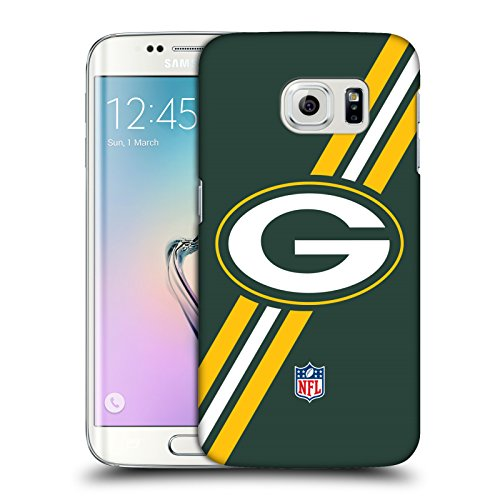 Official NFL Stripes Green Bay Packers Logo Hard Back Case for Samsung Galaxy S6 edge