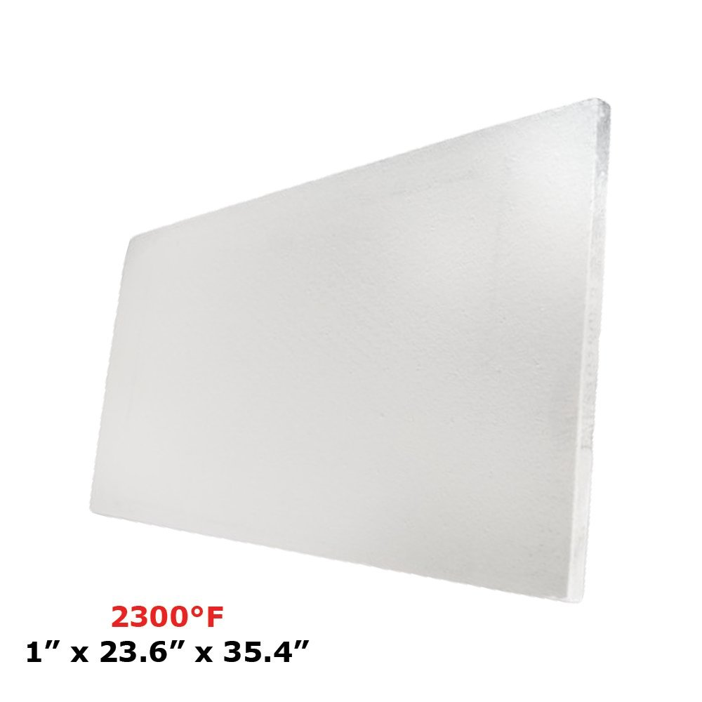 Thermal Insulation Board (2300F) (1'' x 23.6'' x 35.4) for Wood Ovens, Stoves, Forges, Kilns, Furnaces