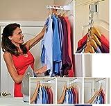Posh Porschey Over Door Folding Clothes Rail Hooks Hanger Wardrobe Storage Ironing