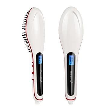 5135f746af121 Magicfly Hair Straightener - Pro Detangling Anion Hair Care Brush Electric  Hair Straightening Comb, Instant