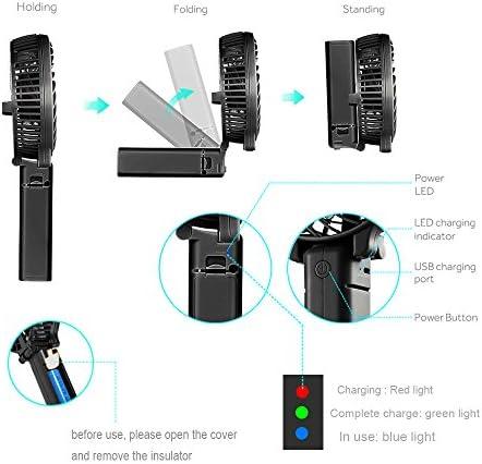 TAGVO Mini Ventilador USB, Recargable de Verano Multifunción ...