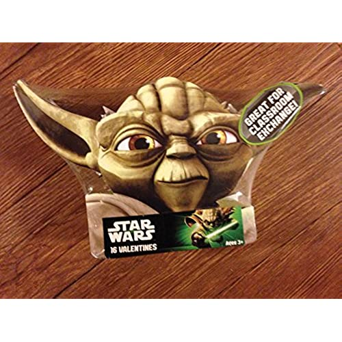 Valentines Day Cards 16 Pack - Star Wars Yoda By Paper Magic Sales