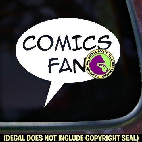 COMICS FAN Zine Club Comic Book Vinyl Decal Sticker A