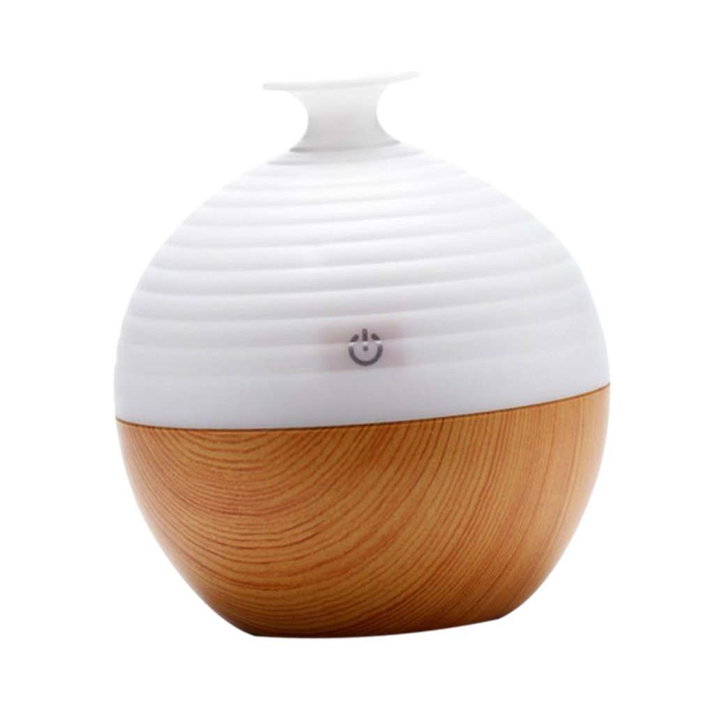 Jili Online 130ML Essential Aroma Diffuser ABS Ultrasonic Air Humidifier Home SPA Purifier Atomizer - Beige, as described