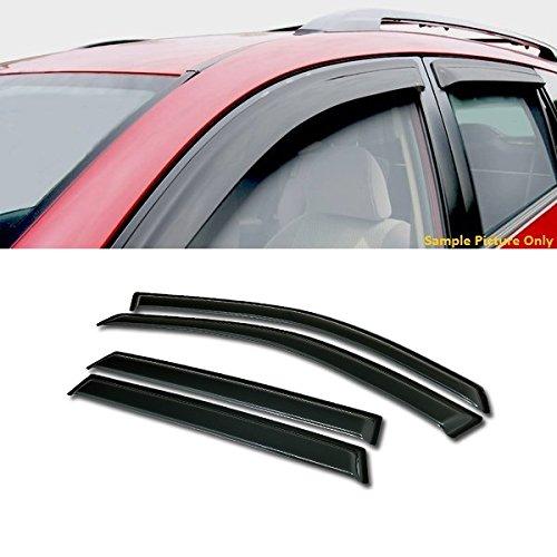 VXMOTOR Curved Style Sun/Rain Guard Smoke Vent Shade Deflector Window Visors 4PC For 2004-2007 Chevy Malibu Maxx Station Wagon Hatchback - Chevy Malibu Wagon