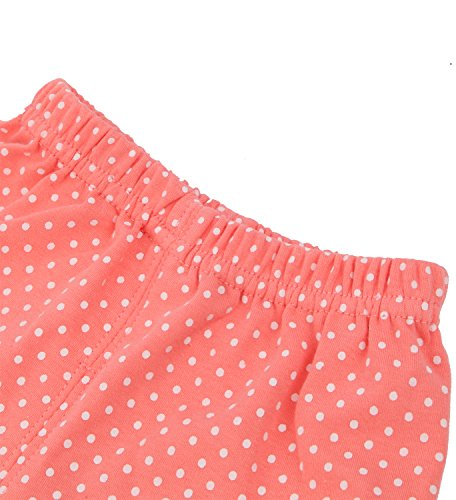Baby Girl 2pcs Long Sleeved Clothes Set Tops + Pants (9-12 Months, Red)