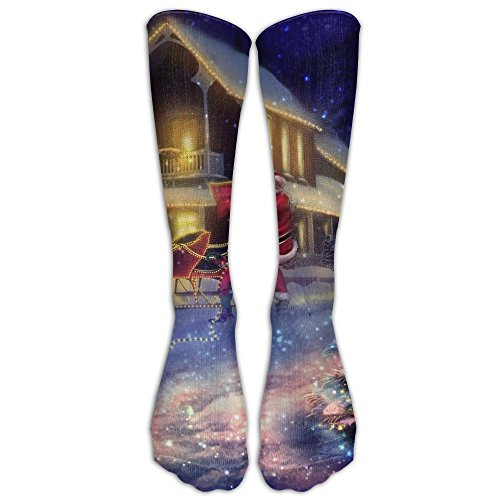Xiuarrowxiu Socks Christmas Mens Womens Champion Dress Athletic Work Long Knee High Stockings Tights ()