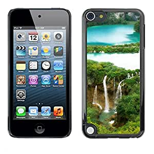 Paccase / SLIM PC / Aliminium Casa Carcasa Funda Case Cover - Waterfall Forrest - Apple iPod Touch 5