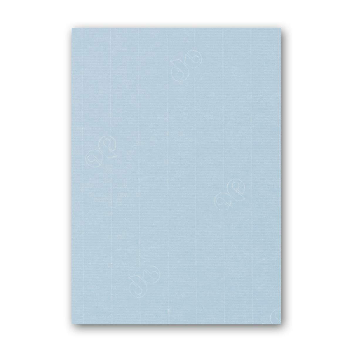 ARTOZ 150x Briefpapier + Bastelpapier Bastelkarton - Taupe - DIN A4 297 x 210 mm – Edle Egoutteur-Rippung – Hochwertiges 220 g m² Tonpapier – Scrapbooking Papier 413 - Pastelblau 100 Stück