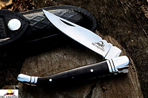 DKC Knives DKC-314K-440c Ebony King Laguiole 440c Stainless Steel Folding Pocket Knife 4.75