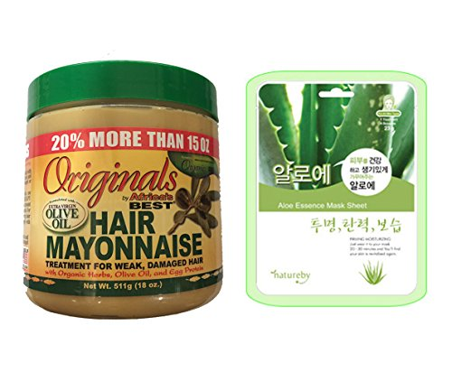 Africa's Best Organics Hair Mayonnaise Bonus Size 18oz w/ Al