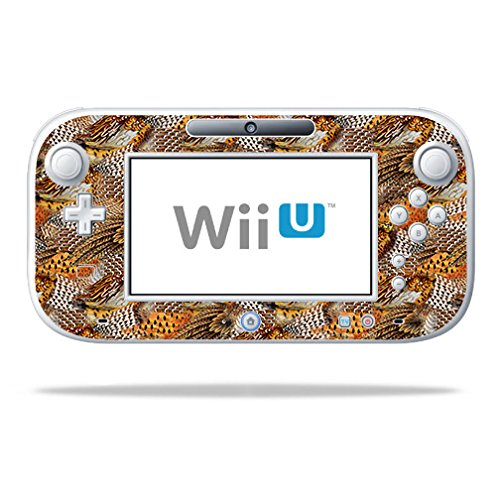 MightySkins Skin Compatible with Nintendo Wii U Gamepad Controller - Pheasant Feathers | Protective, Durable, and Unique Vinyl wrap Cover | Easy to Apply, Remove, and Change Styles | Made in The USA
