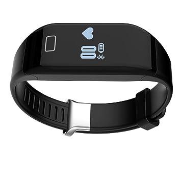 Heart Rate Monitor de fitness, Internet H3 Reloj Inteligente Bluetooth Pulsera Pulsera Podómetro, color Negro - negro: Amazon.es: Deportes y aire libre