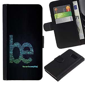 A-type (Enfriar arte de la palabra creativa Motivar) Colorida Impresión Funda Cuero Monedero Caja Bolsa Cubierta Caja Piel Card Slots Para Samsung Galaxy S6