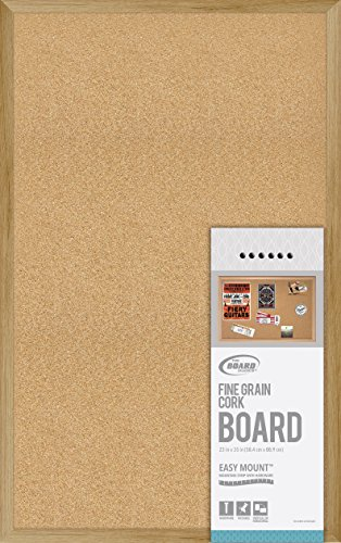 Wood Frame Cork Board - Board Dudes Fine Grain Cork Board Wood Style Frame 35x23