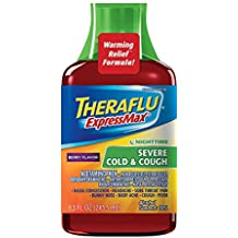 Theraflu ExpressMax Syrup for Nighttime Severe Cold and Cough, Berry Cough Syrup (8.3 ounces)
