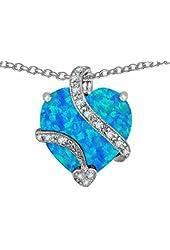 Star K 15mm Large Heart Pendant in Steling Silver