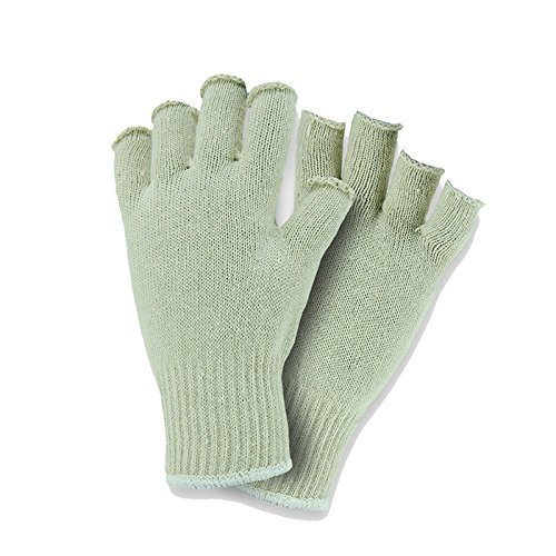 West Chester K708SF Premium Fingerless String Knit Poly Cotton, White, Large (Pack of 12)