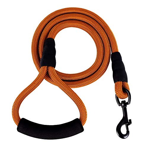 Mile High Life Mountain Climbing Nylon Dog Rope Leash with Soft Handle 4 Feet (Multi-Colors)