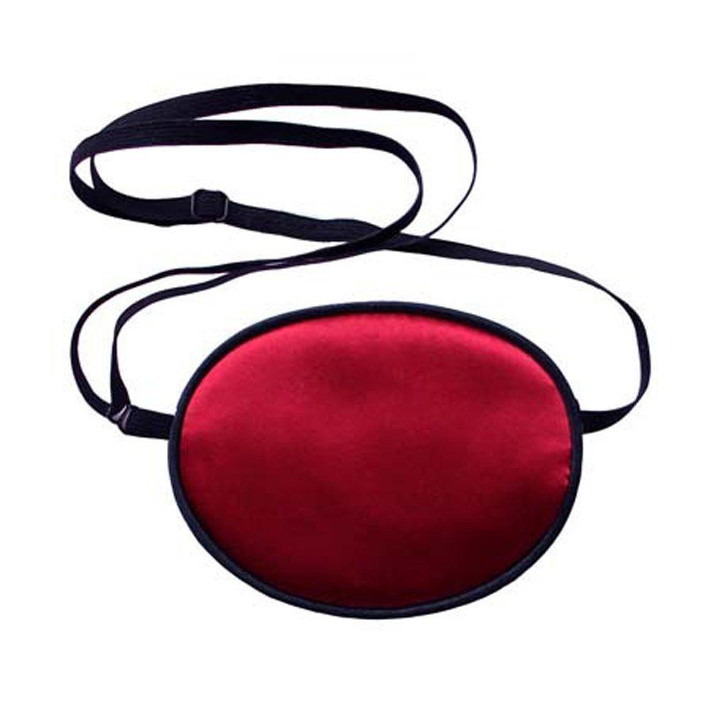 TININNA Adulti Seta Pirata Eyepatch Benda Occhio Maschera Occhio Pigro per Orthoptic Amblyopia Lazy Eye,Nero+Rosa