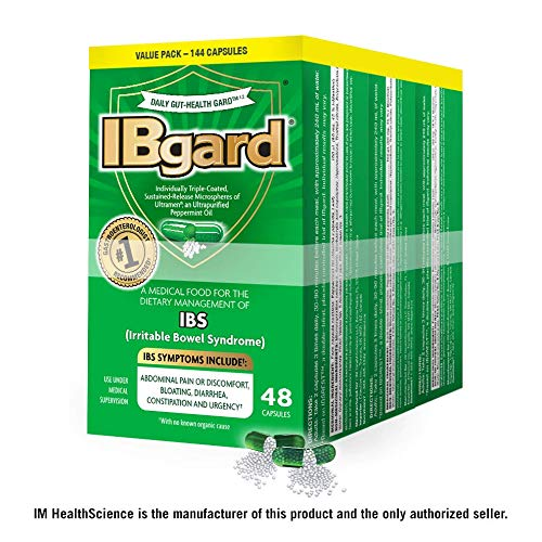 IBgard® for Irritable Bowel Syndrome (IBS) Symptoms Including, Abdominal Pain, Bloating, Diarrhea, Constipation, 48 Capsules (3 Pack) (Best Otc Diet Pill 2019)