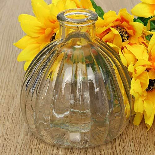 Bottle Gourd - 1pc 150ml Pumpkin Glass Bottles Round Flat Vial Wishing Bottle Souvenir Charm With Cork Diy - Square Vial Bottle Vintage Pendant Ornament Souvenir Glass Candle Pumpkin Cork Flat