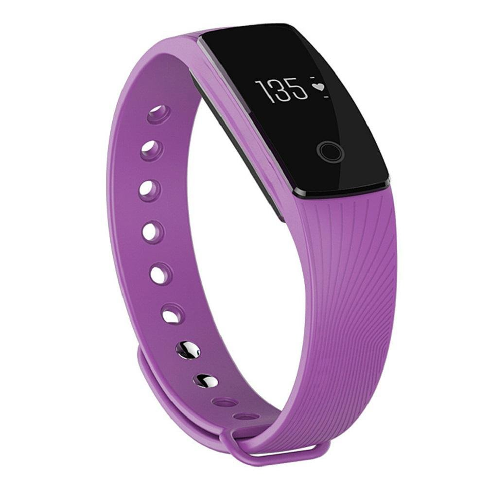 GAOJIAN Bluetooth 4.0 Smart Bracelet smart band Heart Rate Monitor Wristband Fitness Tracker for Android Smartphone , b