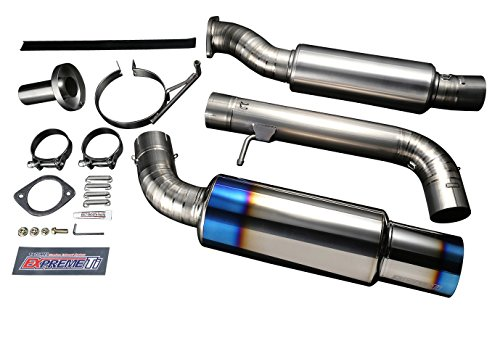 Tomei TB6090-NS02A Expreme Ti Full Titanium Single Exit Y-Pipe Back Exhaust System - Nissan 370Z 09-15 Z34