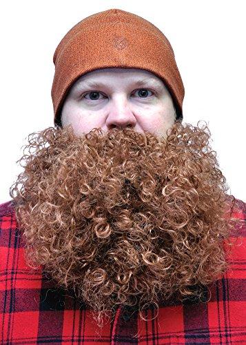 Costume-Accessory Beard Big And Curly Brown Halloween Costume Item - 1 size (Beard Halloween)
