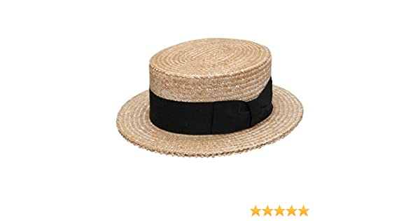 8b37a923c846f Stetson Sennett Straw Boater at Amazon Men s Clothing store