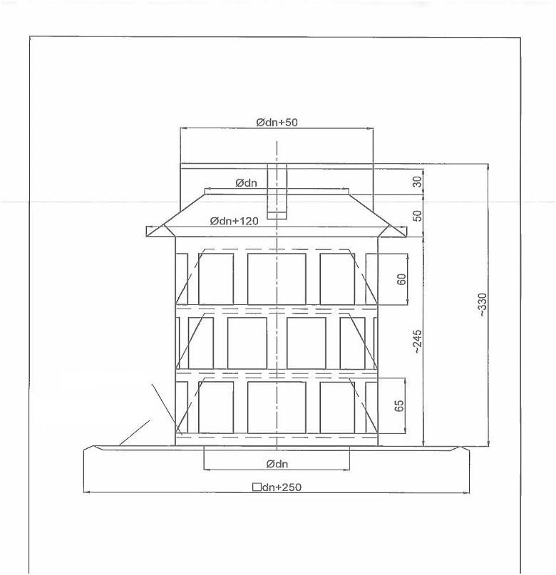 Schornstein Kamin Zugverbesserer Rauchsauger auf Ankerplatte /Ø 300 mm