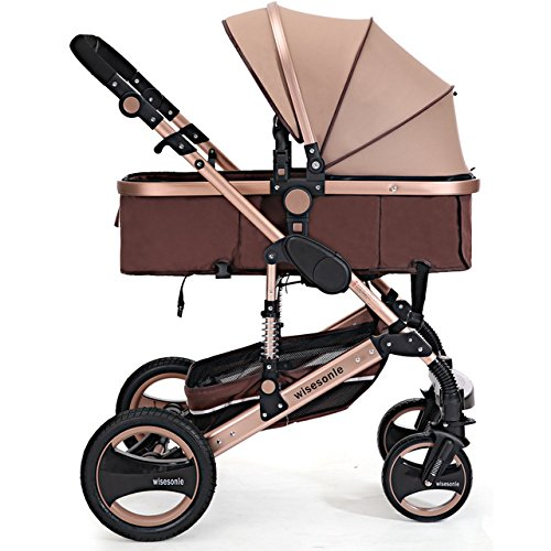 0--36 months baby stroller 2 in 1 stroller lie or damping folding light weight Two-way use four seasons (1) by wisesonle