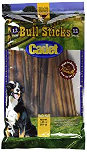 cadet gourmet bully sticks 12 pack pet rawhide treat sticks pet supplies. Black Bedroom Furniture Sets. Home Design Ideas