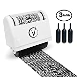 Vantamo Identity Theft Protection Roller Stamp Wide Kit, Including 3-Pack Refills + Free E-Book -...