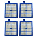 Part # H12 Hepa Filter  for Electrolux Eureka Sanitaire H12 HF1 (HF-1) EL012 EL012W Upright/Canister Filter   Part # H13, SP012 & 60286A 4pcs (4)