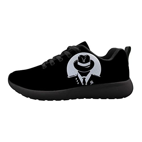 Owaheson Boys Girls Casual Lace-up Sneakers Running Shoes Tuxedos and Tommy Mafia Logo