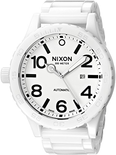 (Nixon Men's A147-126-00 Ceramic 51-30 Analog Display Swiss Made Automatic Movement White Watch)